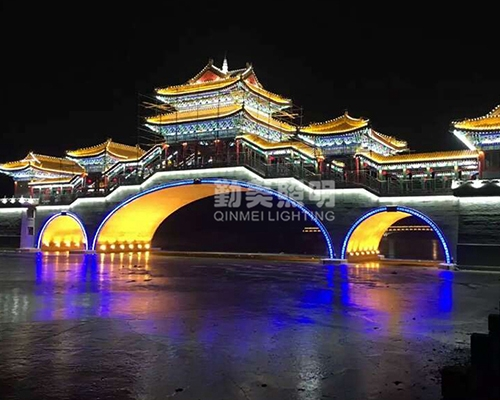 山东济南古建筑亮化工程
