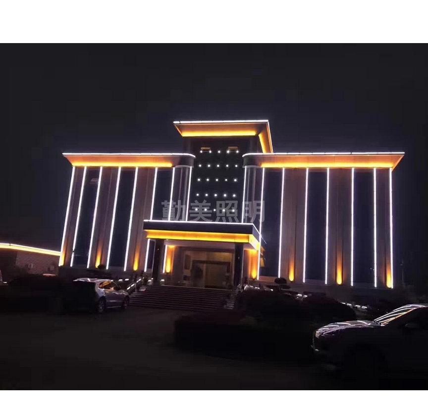 河南某市地税LED工程亮化效果