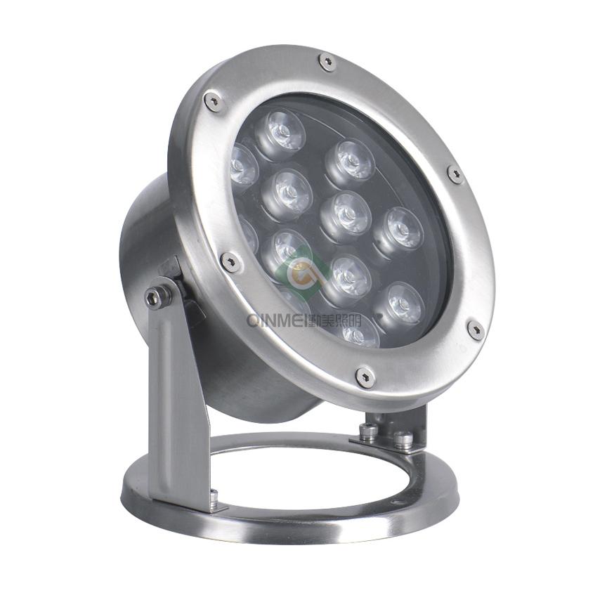 12W七彩大功率LED水下射灯